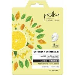 POLKA Maska na tkaninie Cytryna+ wit. C Rozświetlenie 23ml