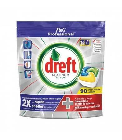 Dreft Platinum Lemon kapsułki do zmywarki 90 szt