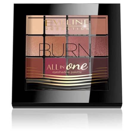 Eveline All InOne paleta cieni do powiek Burn PAL12