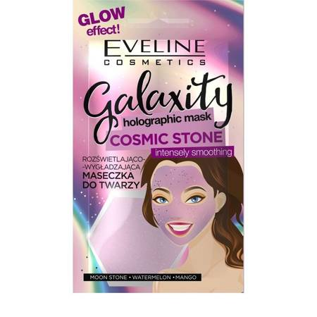 Eveline Galaxity Maseczka do twarzy rozświetlająco-wygładzająca Cosmic Stone 10g