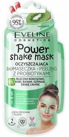 Eveline  Power Shake Oczyszczająca Bio Maseczka-peeling z probiotykami 5w1 10ml