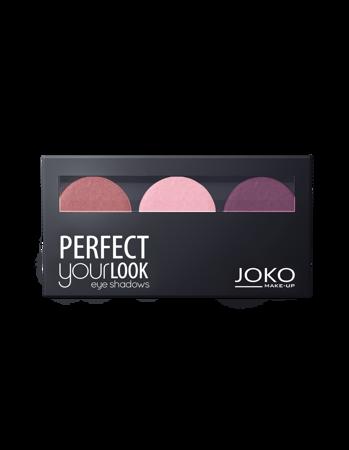 JOKO Cienie prasowane do powiek TRIO PERFECT YOUR LOOK 301