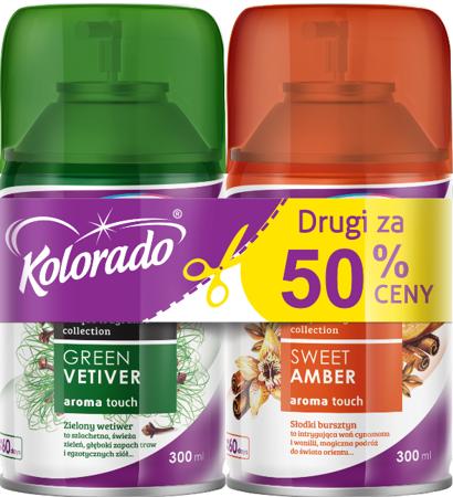 Kolorado AROMA TOUCH Green Vetiver+Sweet Amber ZESTAW
