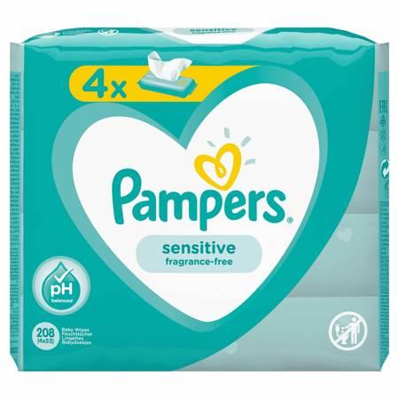 PAMPERS Chusteczki Sensitive 4x52 szt.