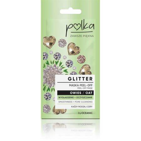 POLKA Glitter Maska Peel off Owies Wygładzenie 6ml