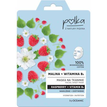 POLKA Maska na tkaninie Malina+wit b3  Nawilżenie 23ml