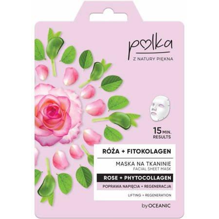 POLKA Maska na tkaninie  Róża Regeneracja 23 ml