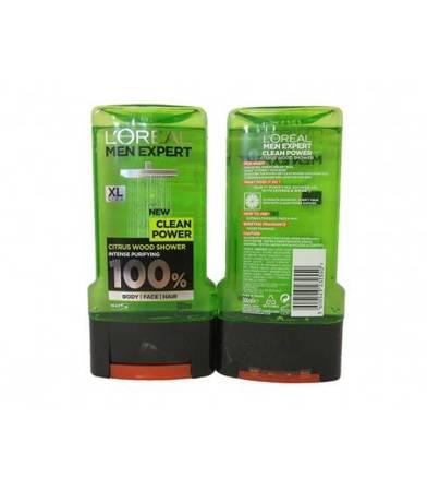 Żel pod prysznic L'Oreal Men Clean Power 300 ml